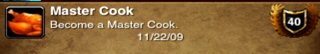 And then there is Power Leveling of Cooking
